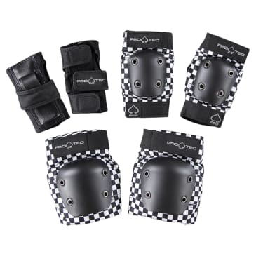 Pro-Tec Junior Street Gear 3 Pack Set Black Checker