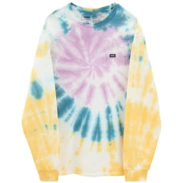 Vans Off The Wall Classic Spiral Tye Dye Long Sleeve T-Shirt - Multi