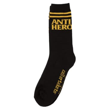 Anti Hero Blackhero If Found Socks Black - Yellow