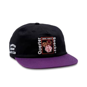 Quartersnacks Party Cap - Black / Purple