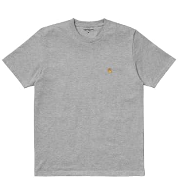 Carhartt WIP Chase T-Shirt - Heather Grey / Gold