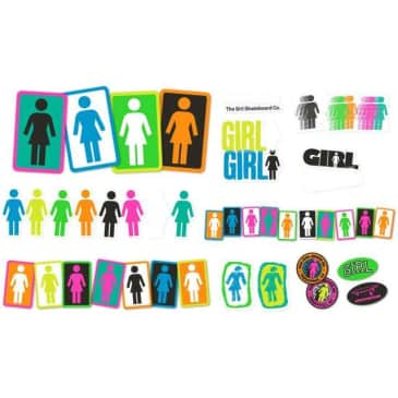 Girl Skateboards Assorted Logo 44 Pack Of Stickers