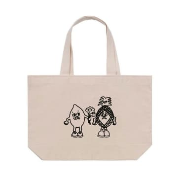 Tomorrow x Eat Your Greens Large Classic Logo Puff Print Tote - Natural