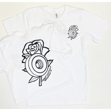 IMPACT Rose Wheel Tee White