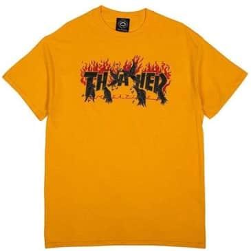 Thrasher Crows T-Shirt - Gold