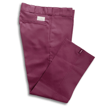No-Comply 874 Work Pants - Maroon