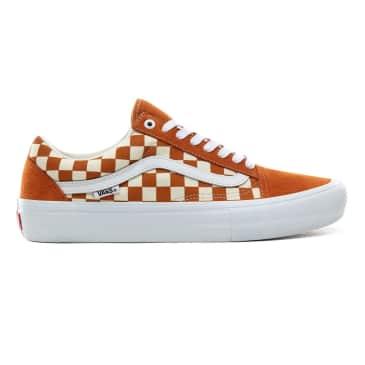 Vans Checkerboard Old Skool Pro Skateboard Shoes - Golden Oak