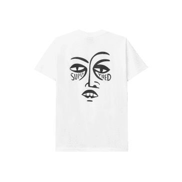 SUPER TIRED SS TEE WHITE