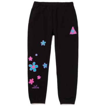 HUF Pushing Daisies TT Fleece Pant - Black