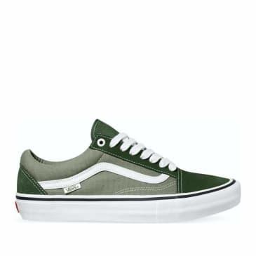 Vans Old Skool Pro Skate Shoes - Forest / White