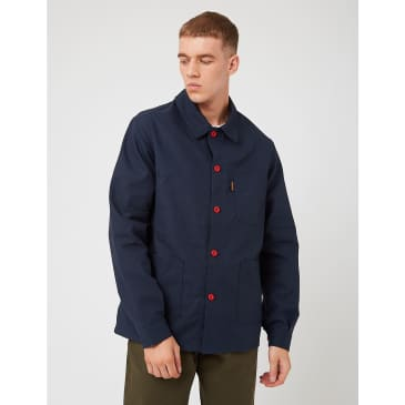 Le Laboureur Work Jacket - Navy Blue/Red Buttons
