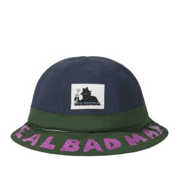 Real Bad Man Duo Toned Bell Bucket Hat - Blue / Green