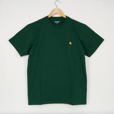Carhartt WIP - Chase T-Shirt - Treehouse / Gold