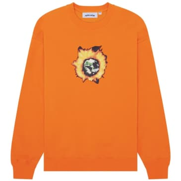 Fucking Awesome Angel Burn Crewneck - Orange