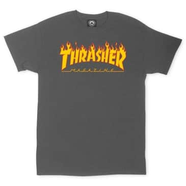 Thrasher Mag Flame Logo T-shirt Charcoal Large