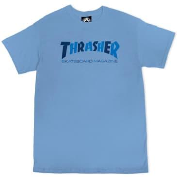 Thrasher Mag Logo Checkers T-Shirt (Caroline Blue)