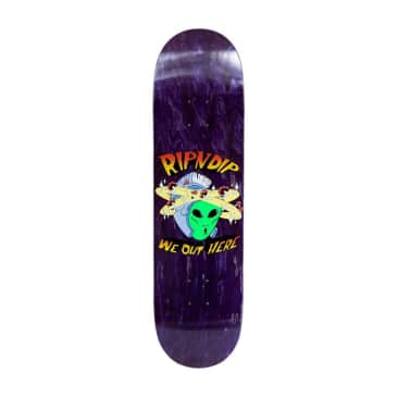 RIPNDIP Out Of This World Board Skateboard Deck Purple 8.25""