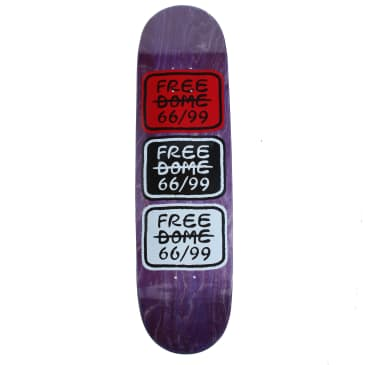 Free Dome Skate Stacked logo deck - 8.5""