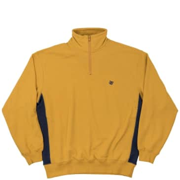 Bronze 56k Microdose 1/4 Zip Sweater - Mustard/Navy