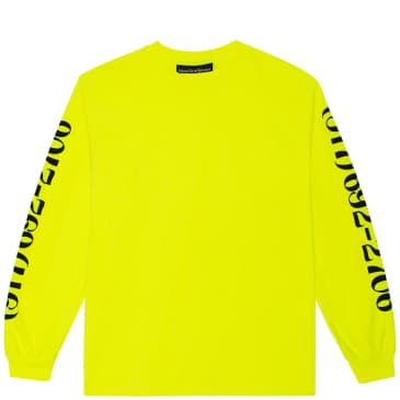 Call Me 917 Dialtone Long Sleeve T-Shirt - Safety Green