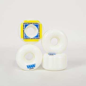 Wayward Wheels - 52mm (101a) H-Cut Waypoint Skateboard Wheels - White / Yellow