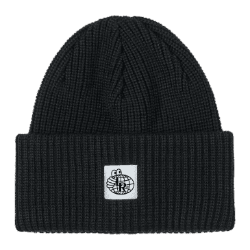 Last Resort Double Fold Merino Beanie - Black