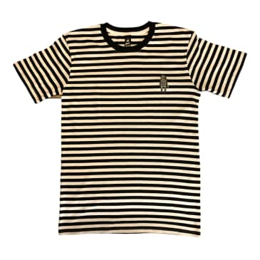 Relief Shooting BBs Stripe T Shirt Black/White