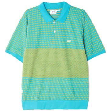 OBEY Token Polo Shirt - Aqua / Multi