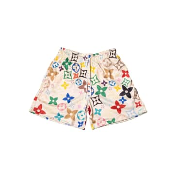 """MR.REMADE-""""FLORAL MESH SHORTS""""(CREAM)"""