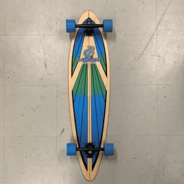 Layback Skateboards Soul Ride Blue Pintail Longboard Complete 9.5