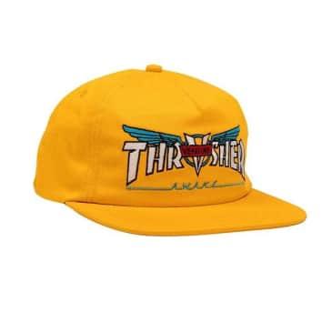 Thrasher Venture Collab Snapback Hat - Gold