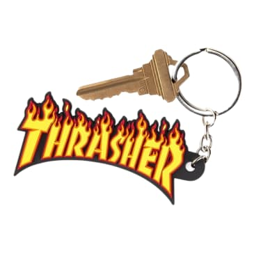 Thrasher Flame Key Chain