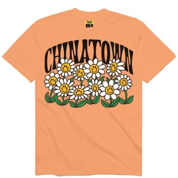 Chinatown Market Flower Power T-Shirt - Peach