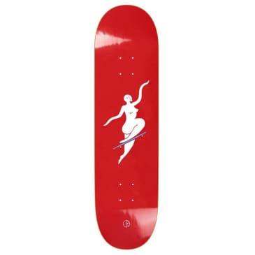 "Polar Skate Co No Comply Red Skateboard Deck - 7.875"""