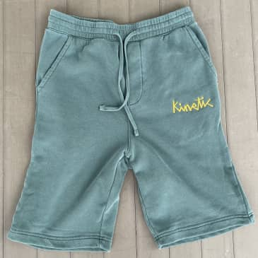 Kinetic Font Sweat Shorts (Washed Alpine Green)