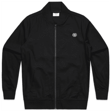 Working Class Monogram Embroidery Bomber Jacket - Black / Silver