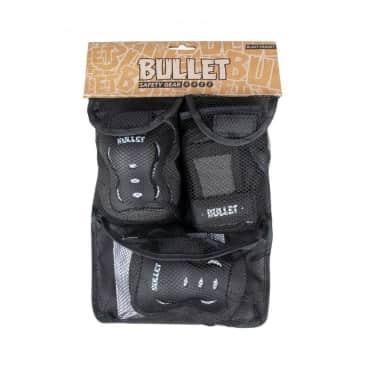 Bullet Junior Blast v2 Triple Skateboard Pad Set - Black/White