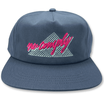 No-Comply 80's Script Snap Back Hat - Navy