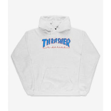 Thrasher - Outlined Pullover Hooded Sweatshirt - Ash Grey