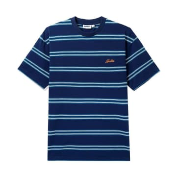 Butter Goods Market Stripe T-Shirt - Navy / White