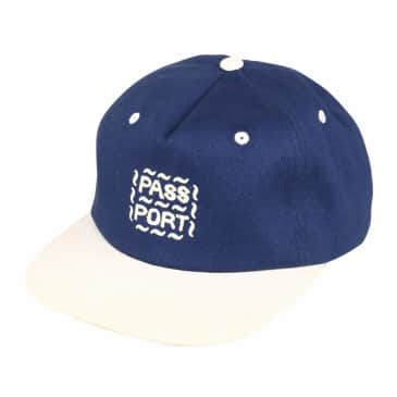 Pass~Port Messy Logo Cap - Navy / Natural