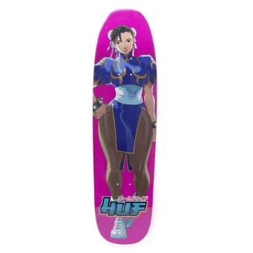 "Huf VS Street Fighter Chun Li Cruiser Skateboard Deck 8.5"""