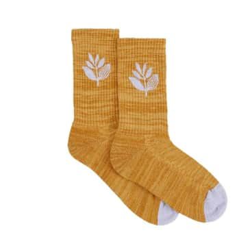 Magenta Plant Socks - Honey