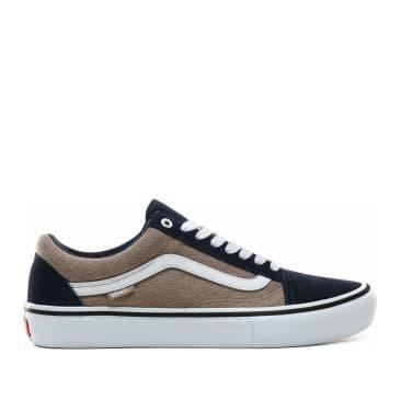 Vans Old Skool Pro Twill Skate Shoes - Dress Blues / Portabella