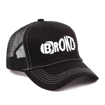 Bronze 56k Footprint Trucker Hat - Black