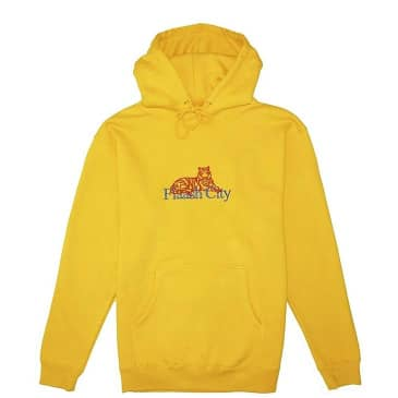 Flaash Tiger Corp Embroidered Hoodie - Gold