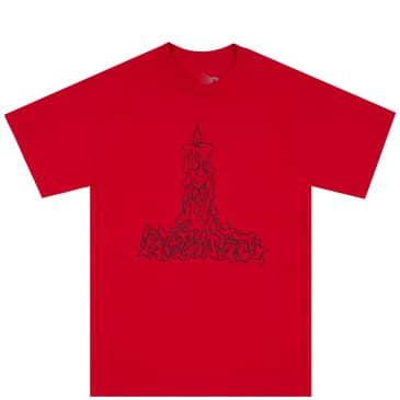 Bronze 56k Candle T-Shirt - Red