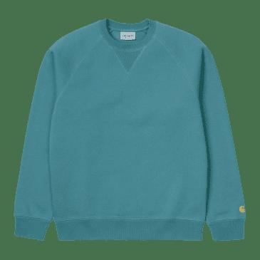 Carhartt WIP Chase Sweat - Hydro/Gold
