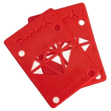 """Diamond Rise And Shine Risers 1/8"""" Red"""