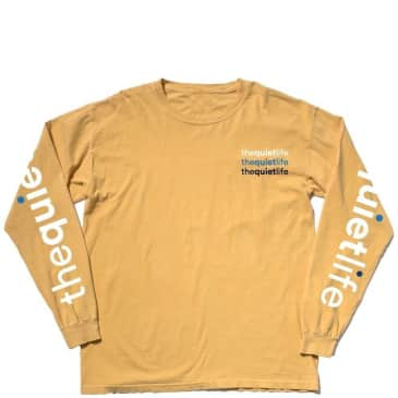 The Quiet Life Origin Long Sleeve T-Shirt - Pigment Dyed Gold
